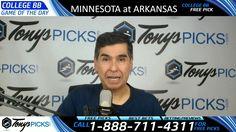 Minnesota Golden Gophers vs. Arkansas Razorbacks Free NCAA Basketball Pi...
