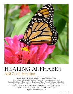 Free Downloadable Poster: ABC's of Healing: Healing Alphabet
