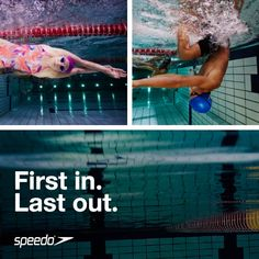 First in. Last out. #swimming