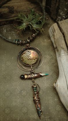 Forging Poetry  Mixed Media Necklace por AlteredAlchemy en Etsy