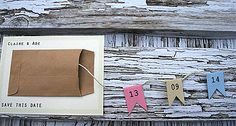 pull out save the date bunting card by orange blossom design | notonthehighstreet.com