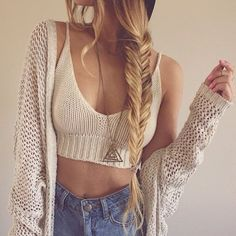 Fishtail braids and Sweaters with high waist jeans....whats not to love?  **K