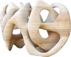 Paulo Laender - PEDRA FURADA - escultura em madeira laminada colada e cavilhada - data 2008 - dim 59 x 756 x 130 cms