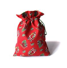 - woreczek świąteczny mikołajkowy - (proj. elfagado), do kupienia w DecoBazaar.com