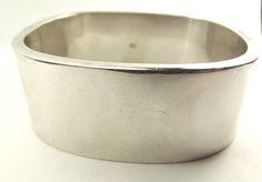 Stylish Vintage Sterling Silver BANGLE Bracelet Square