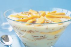 Five ingredients are all it takes to create this low-fat trifle with seasonal fresh mangoes.