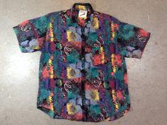 Rad, Fresh Prince style! vintage 1980s men's abstract print short sleeve shirt. retro 1990s menswear fashion. | ReRunRoom | $36.00