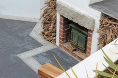 Lantoom Quarry suppliers of natural cornish slate and granite building stone Slate Paving, Crazy Paving, Building Stone, Granite, Natural Stones, Brick, Around The Worlds, Fire, Nature