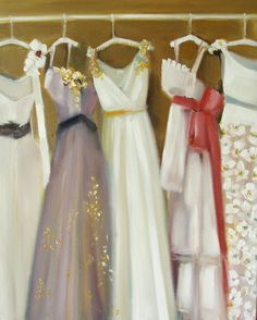Janet Hill Studio - Gowns Open Edition Print (Oil Painting) maybe someday in a little girl's room. don't you just want to play dress up? Janet Hill, Large Prints, Fashion Sketches, Fashion Drawings, Girly Girl, Fashion Art, Work Fashion, Tutu, Dress Up