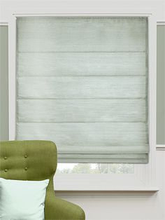 Real Silk Mist Roman Blind - create a serene, tranquil atmosphere in your home with this luxurious silk roman blind. #blinds #roman #silk