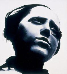 Wilhelm Sasnal    Portrait of Rodchenko, Lady    http://www.saatchi-gallery.co.uk/artists/artpages/sasnal_Portrait_of_Rodchenko_Lady.htm  2002 Oil on Canvas30 x 30cm