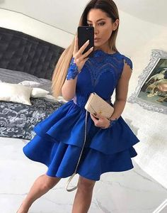Royal Blue Homecoming Dress with Sleeves, Hoco Dresses, Short Prom Dress, Back to School Party Dance Dress royal blue hoco dress / royal blue party dress / blue gown royal / white and royal blue wedding / blue dress royal Royal Blue Homecoming Dresses, Long Sleeve Homecoming Dresses, Mini Prom Dresses, Dresses Short, Royal Blue Dresses, A Line Prom Dresses, Party Dresses For Women, Modest Dresses, Dress Long
