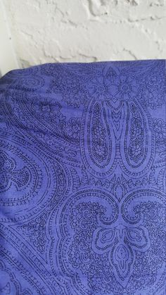 Purple Paisley Cotton Fabric By the Yard by LaCreekBlue on Etsy