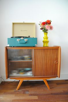 Crosley   Our house (A dedicated space for the record player, always a plus)