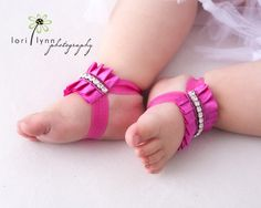 Marilyn  Baby Barefoot Sandals  Baby Barefoot by StellasDesign, $24.00