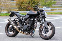 Yamaha SR400 1989 | Yamaha MT03 headlight | Japan | via sr400times.com