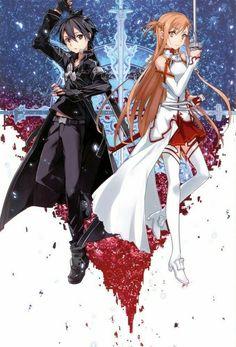 - Kirito and Asuna Schwertkunst Online, Buy Art Online, Chica Anime Manga, Anime Kawaii, Sao Kirito And Asuna, Sword Art Online Wallpaper, Sword Art Online Kirito, Kirito Sword, Image Manga