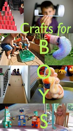 Cool Craft Projects for Kids: Craft Projects For Boys (That Girls Will Love Too) (Cool Crafts For Boys) Diy And Crafts Sewing, Craft Projects For Kids, Crafts For Kids To Make, Craft Activities For Kids, Crafts For Teens, Toddler Activities, Kids Crafts, Craft Ideas, Do It Yourself Inspiration