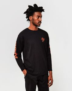 The Idle Man Paradise Long Sleeve T-Shirt Black ON SALE NOW | Shop all sale at The Idle Man | #StyleMadeEasy