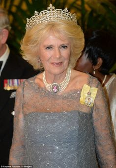 Camilla was due to attend last night's annual event, to which the Duchess of Cambridge wore one of Diana, Princess of Wales's favourite tiaras, but had to pull out on the advice of her doctors Camilla Duchess Of Cornwall, Duchess Of Cambridge, Princess Mary, Princess Charlotte, Eugenie Of York, Camilla Parker Bowles, Royal Tiaras, Royal Engagement, Herzog