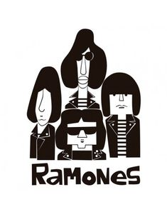 "Illustration ""Ramones"" by Mikel Casal.Size x in x 21 cm)Frame not included. Rock Posters, Retro Posters, Band Posters, Music Posters, Kiss Rock, Ramones Logo, Arte Punk, Art Of Noise, Heavy Metal Art"