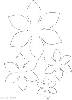 New flowers diy paper wall art ideas Paper Flower Patterns, Paper Flowers Diy, Felt Flowers, Flower Crafts, Fabric Flowers, Lotus Flowers, Paper Butterflies, Leaf Template, Flower Template