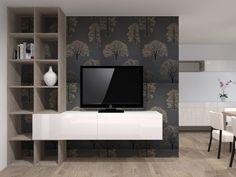 Rekonstrukce panelového bytu - TV stěna