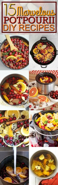 The best DIY simmering stovetop and crockpot Potpourri recipes to make your smell marvelous! Check it out!