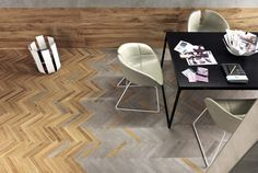 Minoli Tiles - DreamWell - Get the perfect transition between concrete and wood…
