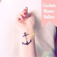 Hey, I found this really awesome Etsy listing at https://www.etsy.com/listing/188668713/set-of-2-custom-nametext-anchor