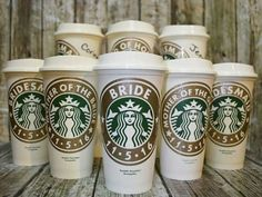 Bridesmaid Gifts Starbucks Coffee Cup With Personalized Name Genuine Cups As Wedding Party For Bridesmaids