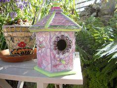 Mosaic Bird-house by CEB   Other Ideas