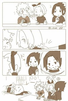 Find images and videos about naruto, sakura and sasuke on We Heart It - the app to get lost in what you love. Naruto Uzumaki Shippuden, Naruto And Sasuke, Naruto Team 7, Sasuke Sakura Sarada, Naruto Anime, Naruto Comic, Wallpaper Naruto Shippuden, Naruto Cute, Hinata