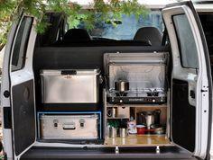 Backdoor kitchen/ coffee set up