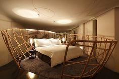 "The ""Happiness Suite"" In This Hotel Has A Bed In A Basket - http://www.modernresidentialarchitecture.com/the-happiness-suite-in-this-hotel-has-a-bed-in-a-basket"