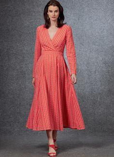 V1672 Vogue Patterns, Dress Patterns, Textiles, Miss Dress, Kimono Dress, 15 Dresses, Wrap Dress, Fashion Outfits, Fitted Bodice
