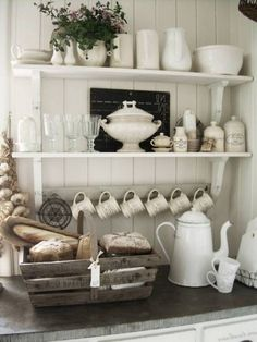 open kitchen shelves | ... Open Shelf Storage To Organize A Small Kitchen | Kitchen Design Ideas
