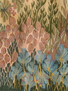 Egyptian cotton tapestry by Ramses Wissa Wassef artist Gehan Rezk. Handwoven in Harrinia, Egypt. Weaving Art, Loom Weaving, Tapestry Weaving, Hand Weaving, Weaving Tools, Art Textile, Textile Patterns, Textile Design, Print Patterns