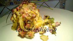 Tagliatelle prosciutto e zucchine