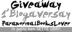 ParanormalBooksLover: Giveaway: 1° Blogaversary di ParanormaBooksLover