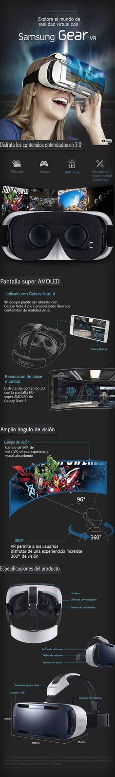 Samsung gear vr en infografía, el top en realidad virtual en celulares