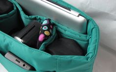 PreOrder Turquoise Camera Bag Insert 2 Lens Sleeves by Martilena