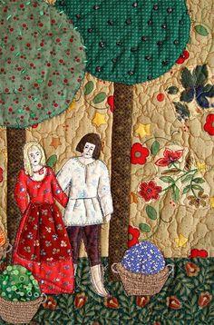 HARVEST TIME Art Quilt Home Decor by BozenaWojtaszek on Etsy, $300.00