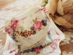 リモージュ・カップ&ソーサー - イギリスとフランスのアンティーク | バラと天使のアンティーク | Eglantyne(エグランティーヌ)