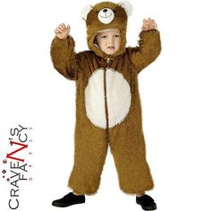 Child brown teddy bear fancy #dress #costume book week animal kids new #small 4-6,  View more on the LINK: 	http://www.zeppy.io/product/gb/2/181987176508/