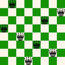 The eight queens puzzle is based on the classic stategy games problem which is in this case putting eight chess queens on an chessboard such that none of them is able to capture any other using the standard chess queen's moves. Chess Puzzles, Maths Investigations, Train Your Brain, Games To Play, School Ideas, Queens, Education, Classic, Games