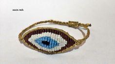 evil eye bead bracelet by SESIMTAKI on Etsy, $7.00