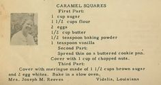 Family Recipe Friday ~ Caramel Squares #geneabloggers #genealogy