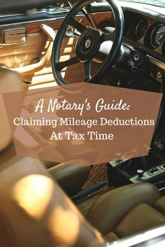Attention all mobile Notaries! Do you know how to properly track your travel deductions for your income tax?