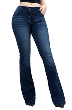 9aa31f362dd3 Women Fashion Trendy Sexy High Waisted Stylish Flare Bell Bottom Jean SIZE1  DENIM90039     More info could be found at the image url.